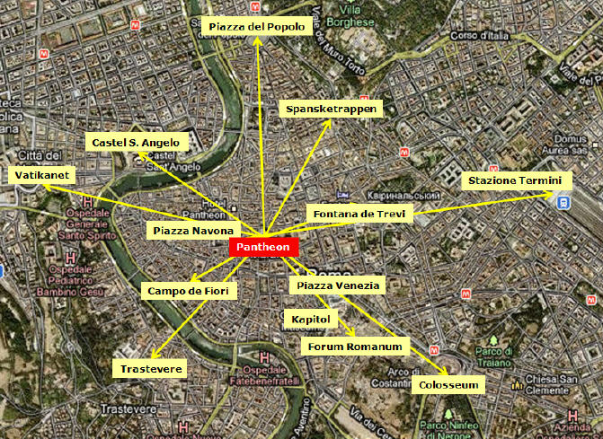 severdigheter i roma kart Kart over Roma | Romareiser.no severdigheter i roma kart