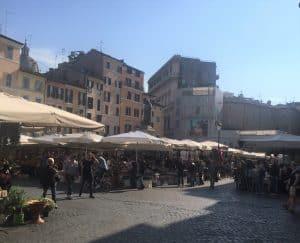Campo de' Fiori og Bruno 1