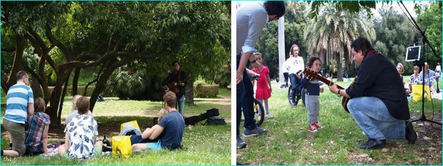 Piknik i parken med trubadur 1