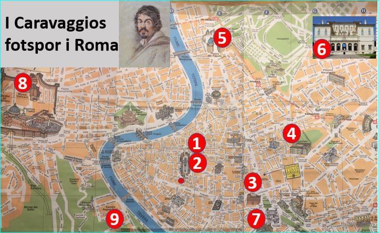 I Caravaggios fotspor i Roma 3